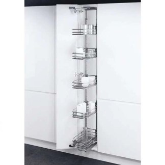 Swing Out Larder Unit Grey Baskets 300mm