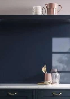 Splashback, Aluminium Blueberry 1