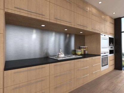 Splashback, Aluminium Metallic brushed steel 1