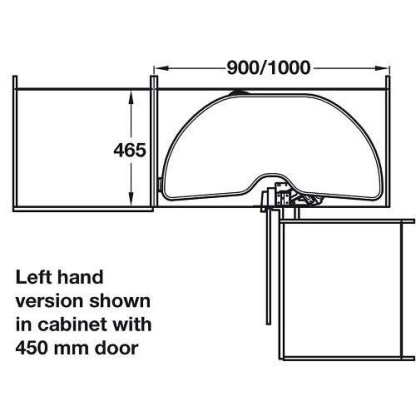 Corner Pull Out Shelving Unit