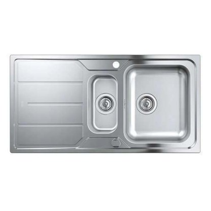 Stainless Steel Sink 1.5 Bowl Grohe K500