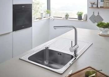 Stainless Steel Sink, Single Bowl Grohe K500 1