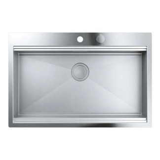 Stainless Steel Sink Single Bowl Grohe K800 846 x 560 mm
