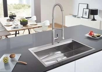 Stainless Steel Sink, Single Bowl Grohe K800