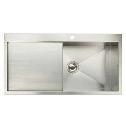 Sink and Drainer Single Bowl Top Mount