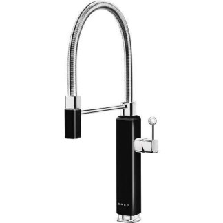Black Mixer Tap Single Lever With Pull Out Spray