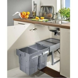 Pull Out Waste Bin 2x 16 Litres Space Saving