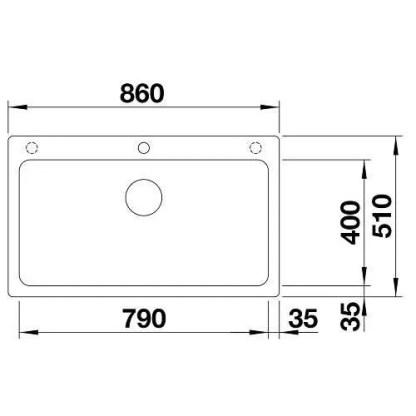 Granite Sink Blanco Naya XL 9-size