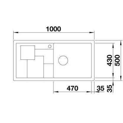 Granite Sink Blanco Sity xl 6s-size