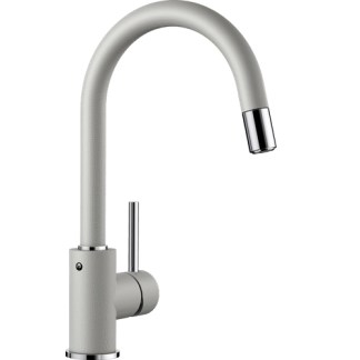 Kitchen Mixer Tap Blanco Mida-s Pearl Grey