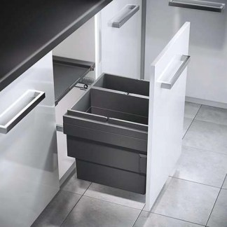 Pull Out Double Waste Bin Hailo Cargo Synchro 500