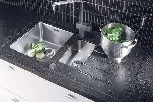 Sink Modules Mira Worktop Duo 1.5 Bowl Stainless Steel