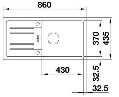Granite Sink Blanco Favum XL 6 S-size