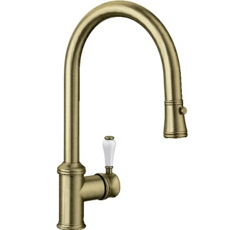 Pull Out Spray Tap Blanco Vicus Brushed Brass