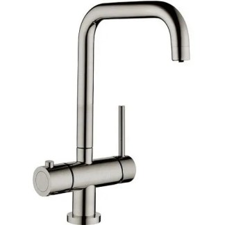 kitchen Sink Hot Mixer Tap Prima 3 in 1 Brushed Steel