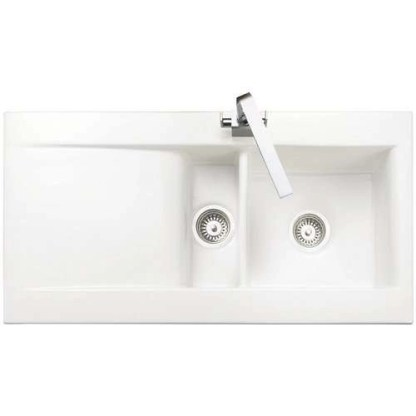 Sink, 1.5 Bowl and Drainer, Rangemaster Nevada CNV2