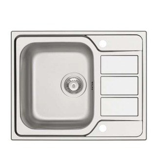 Sink, Single Bowl with Drainer, Athena