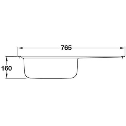 Sink, Single Bowl with Drainer, SR Mini-size