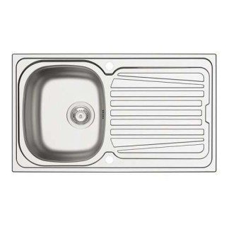 Sink, Single Bowl with Drainer, Sparta Satin stainless steel