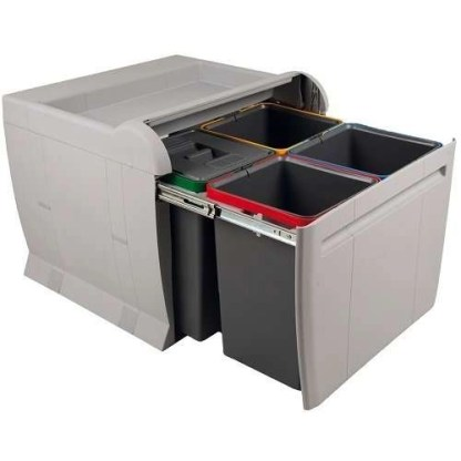 City Pull Out Waste Bin, for 600mm Cabinets