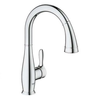 Single Lever Tap Monobloc Mixer, Pull Out Spray, Grohe Parkfield