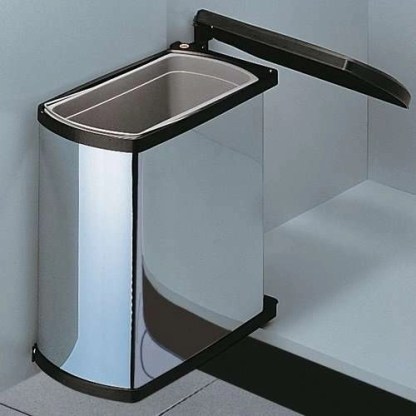 Cabinet Wast bin Hailo AS Uno 18 stainless steel-black
