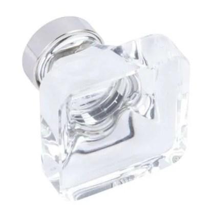 Knob, Glass, 35x35 mm, Glacio