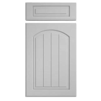 Saxon Arch Cupboard Doors Light Grey