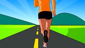 Running woman -- something needs to change