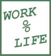 work-life balance drawing