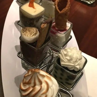 Mini indulgences: The almond one was sublime, as was the blueberry one!