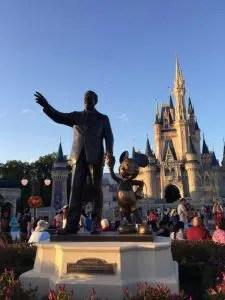 Walt Disney and Cinderella's castle