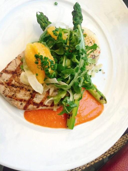 My salmon salad - phenomenal!
