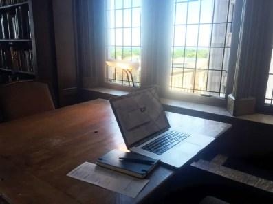 Mu library work setup - perfection.
