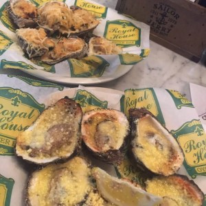 Royal House's baked oysters