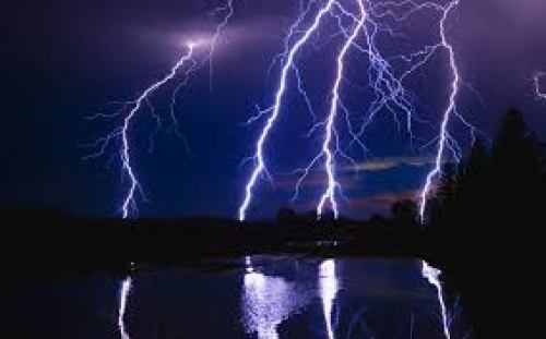 thunderstorms at every second