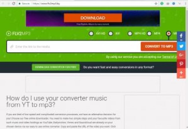 convert video to MP3 - worktutorial.com