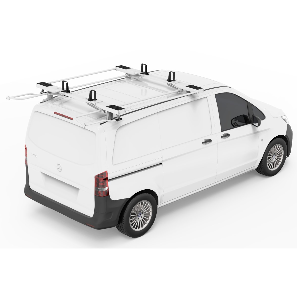 double side aluminum drop down ladder rack by kargo master