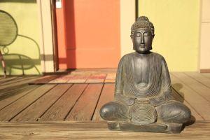 Bodhisatva on the porch
