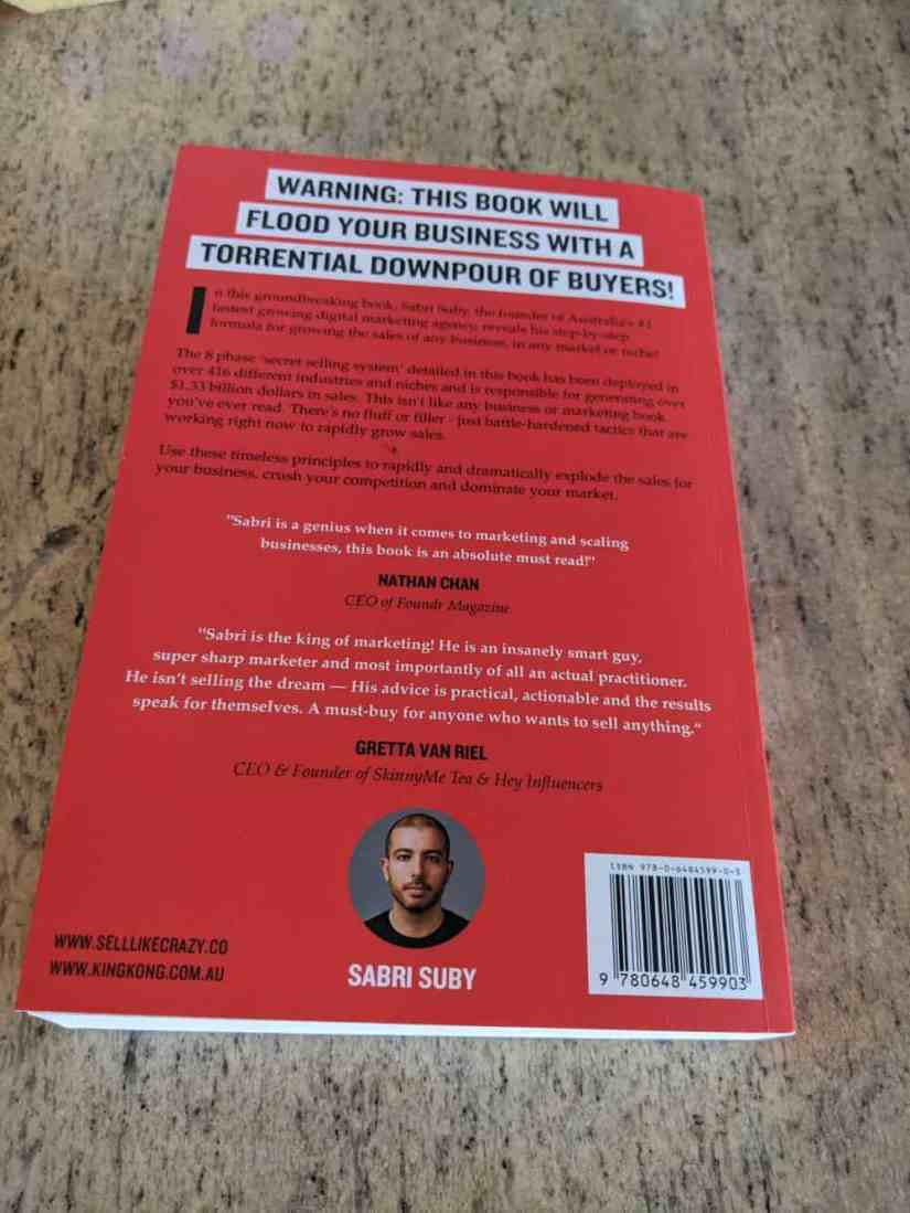 Sell Like Crazy book back cover