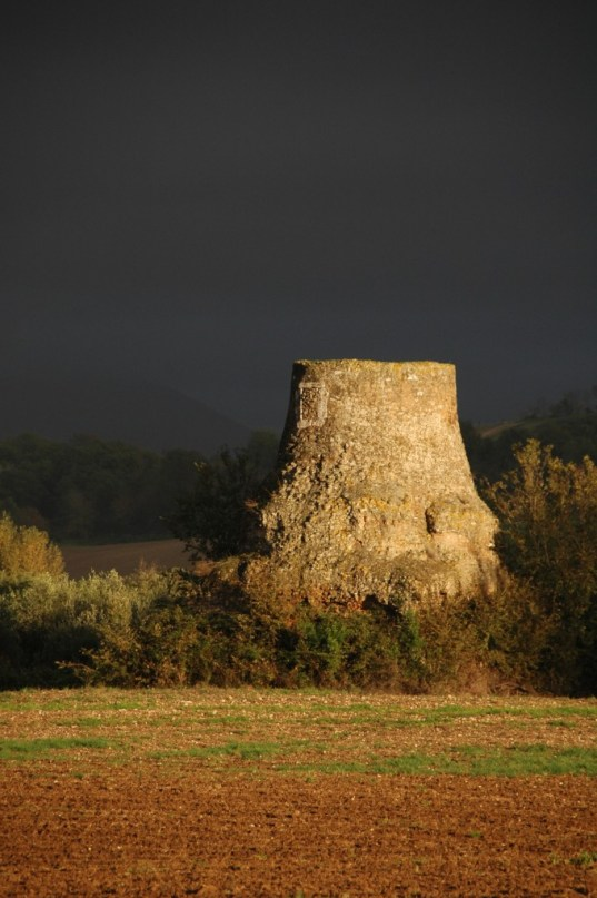 Sophie Hay_Italy_Otricoli_Mausoleum in a storm_taken Nov 2012