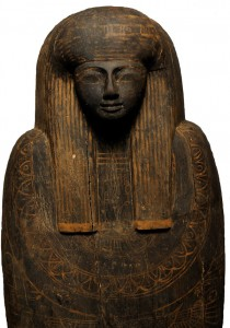 The coffin of Nehemes-Baset, Chantress of Amun, from the Valley of the Kings.
