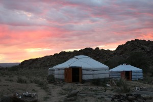 Stepping back in time: the gers, or yurts, are a reminder of the enduring traditions of much of the nomadic Mongolian population.