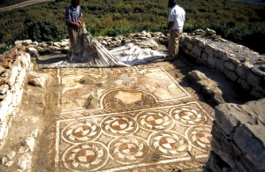 Travel, Albania: Byllis 6th century mosaic - CWA 63