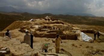 Excavation at Mes Aynak