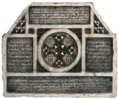A marble tombstone in four languages, Palermo, Sicily, 1149 AD.