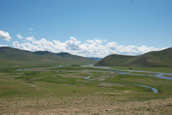 Tracing the development of Eurasia: the upper reaches of the Orkhon valley in the central Mongolian steppe. This fertile, well-watered valley was the centre for Turkic, Uighur, and Mongol cultures.