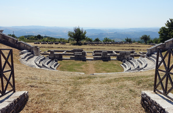 The view from the temple at Pietrabbondante