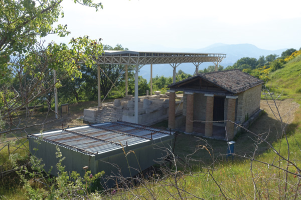 The 3rd century BC Samnite temples at Schiavi d'Abruzzo.