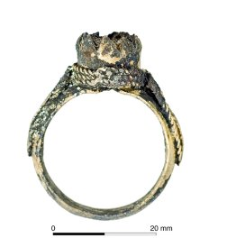 An example of 'trench art': a ring made with bits of wire and metal found around the trench. [Image: Oxford Archaeology]